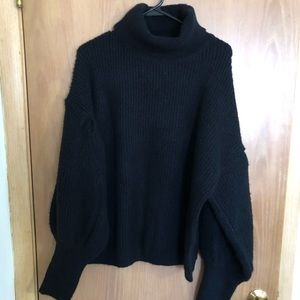 Brand new turtleneck, balloon sleeve sweater!